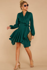 2 Scheduled Perfection Evergreen Wrap Dress at reddress.com