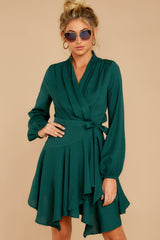 4 Scheduled Perfection Evergreen Wrap Dress at reddressboutique.com