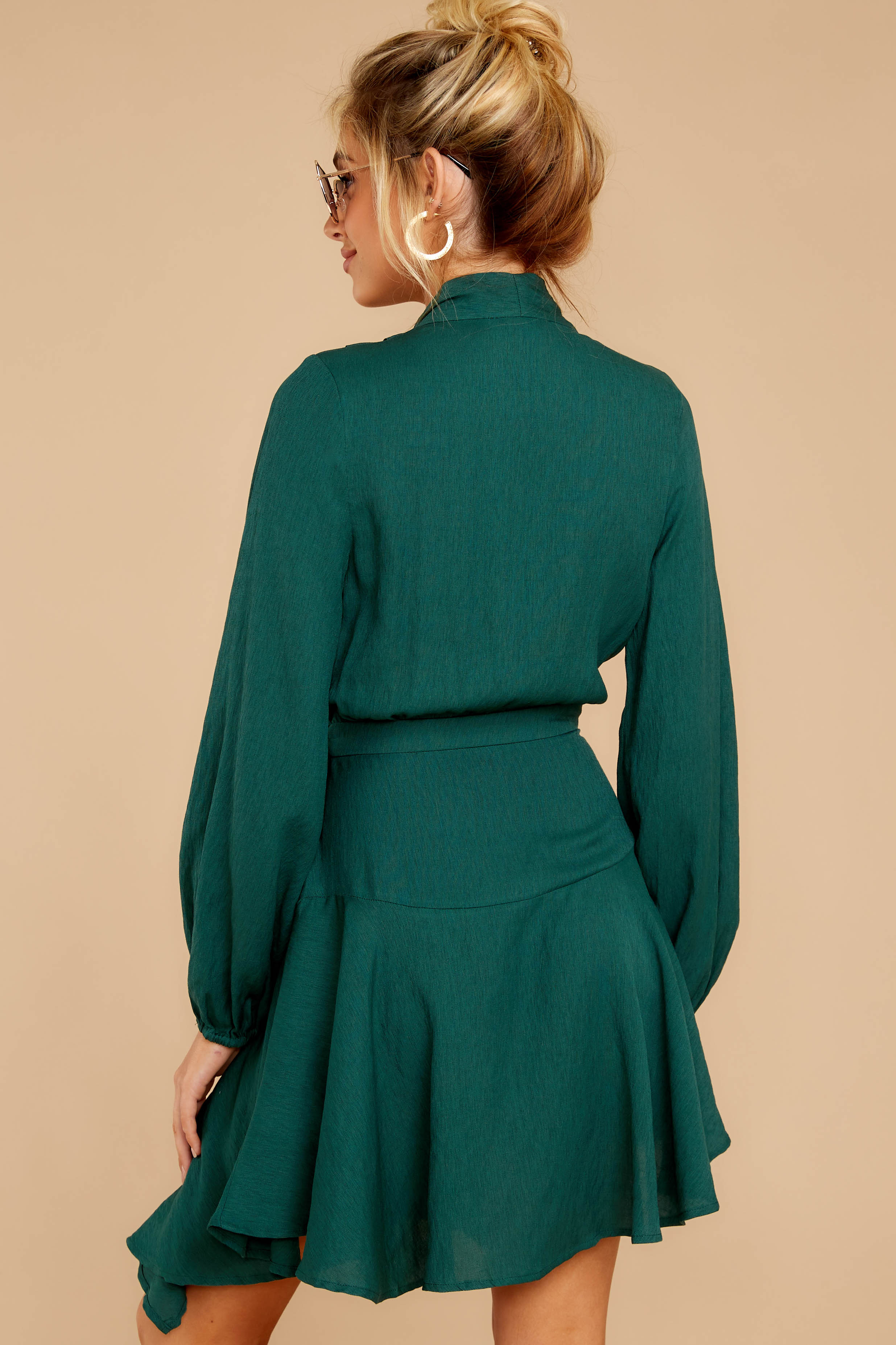 6 Scheduled Perfection Evergreen Wrap Dress at reddressboutique.com