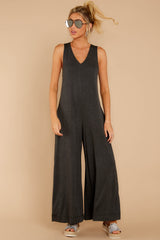 3 Prima Donna Dark Charcoal Jumpsuit at reddressboutique.com
