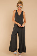 1 Prima Donna Dark Charcoal Jumpsuit at reddressboutique.com