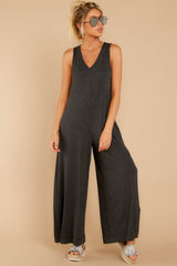 4 Prima Donna Dark Charcoal Jumpsuit at reddressboutique.com
