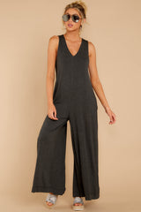 5 Prima Donna Dark Charcoal Jumpsuit at reddressboutique.com