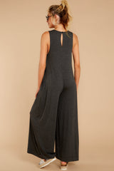 6 Prima Donna Dark Charcoal Jumpsuit at reddressboutique.com