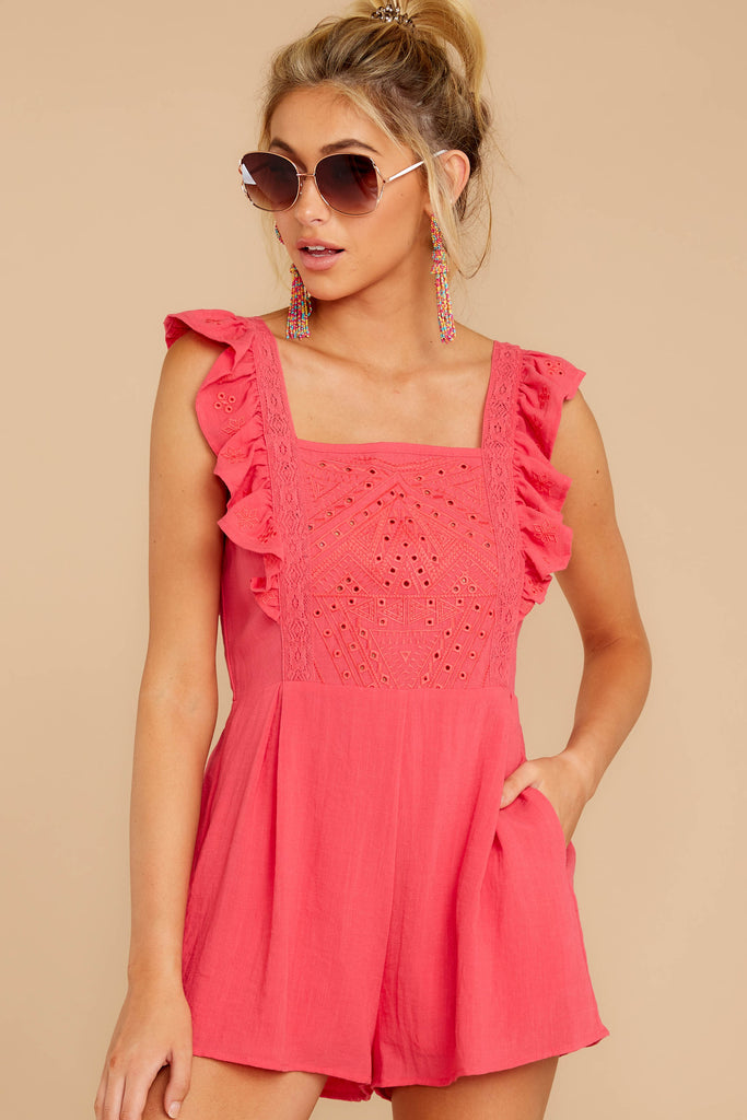 1 Sign Off Berry Pink Romper at reddressboutique.com