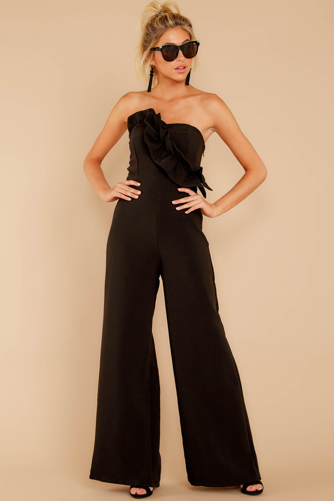 1 Lessons In Luxe Black Jumpsuit at reddressboutique.com