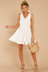 2 Quite Simply White Dress at reddressboutique.com