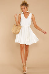3 Quite Simply White Dress at reddressboutique.com