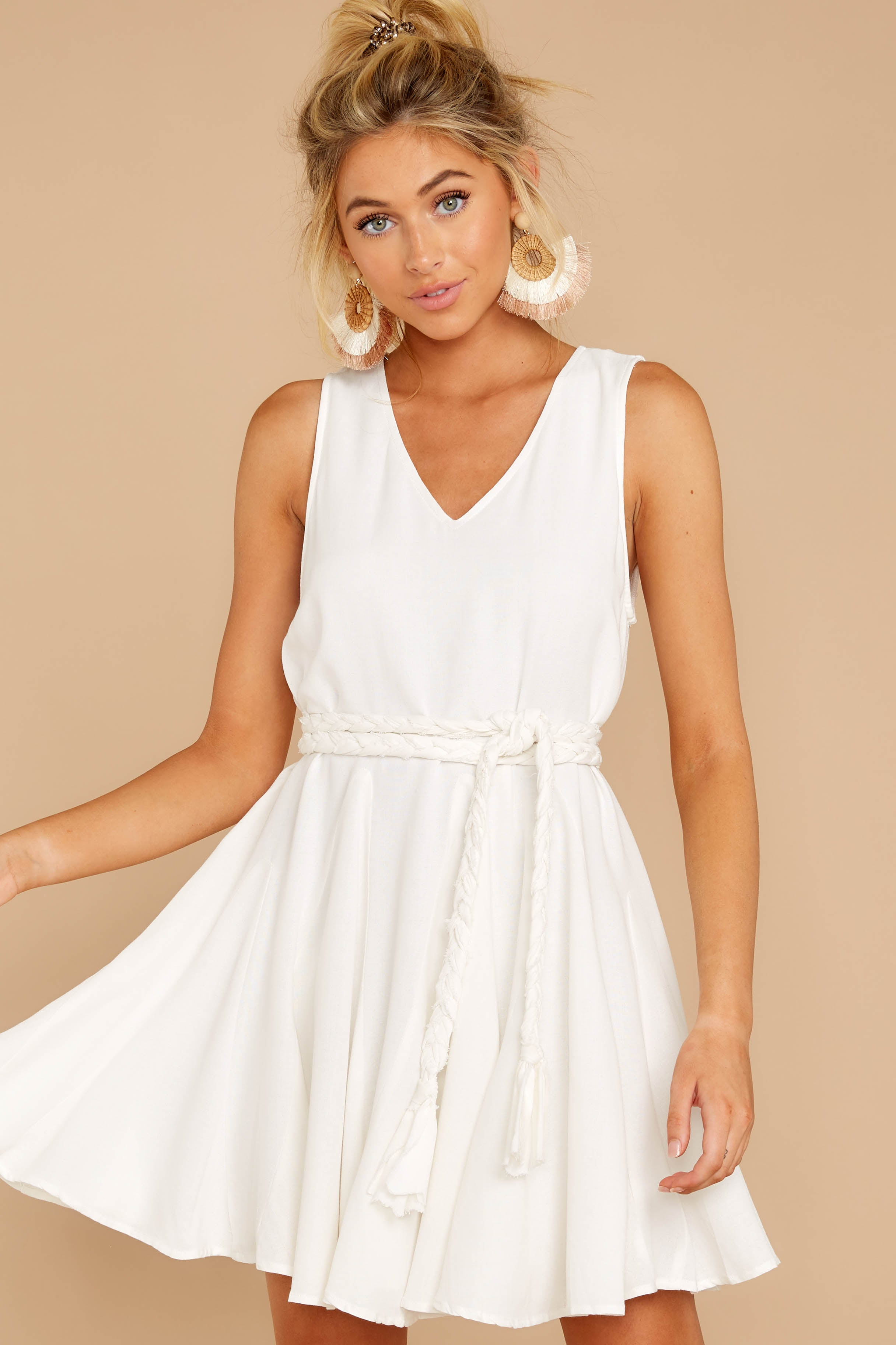 4 Quite Simply White Dress at reddressboutique.com