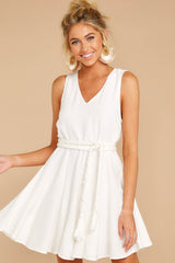 6 Quite Simply White Dress at reddressboutique.com