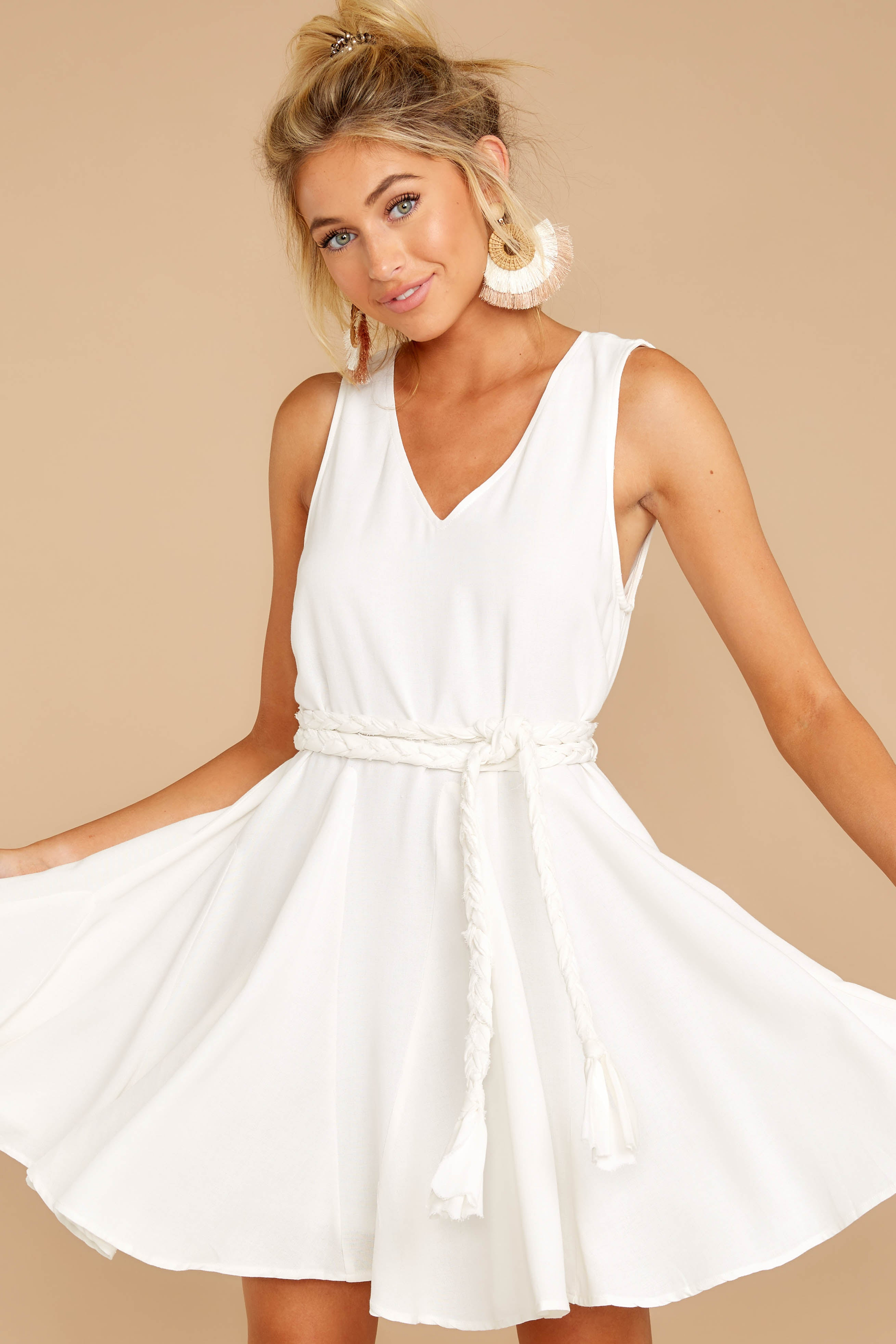 5 Quite Simply White Dress at reddressboutique.com