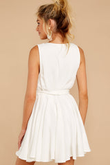 7 Quite Simply White Dress at reddressboutique.com
