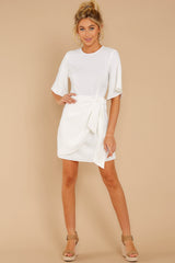 2 Perfect Tendencies White Dress at reddressboutique.com