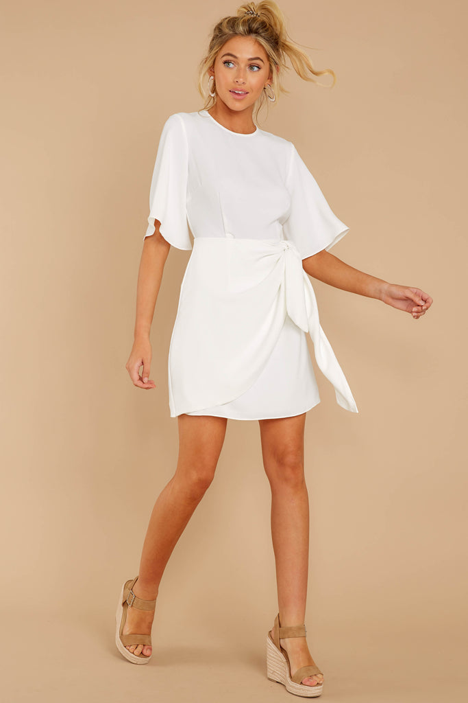 1 Quite Simply White Dress at reddressboutique.com