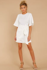 3 Perfect Tendencies White Dress at reddressboutique.com
