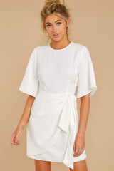 4 Perfect Tendencies White Dress at reddressboutique.com