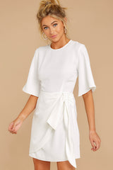 6 Perfect Tendencies White Dress at reddressboutique.com