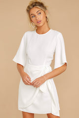 5 Perfect Tendencies White Dress at reddressboutique.com