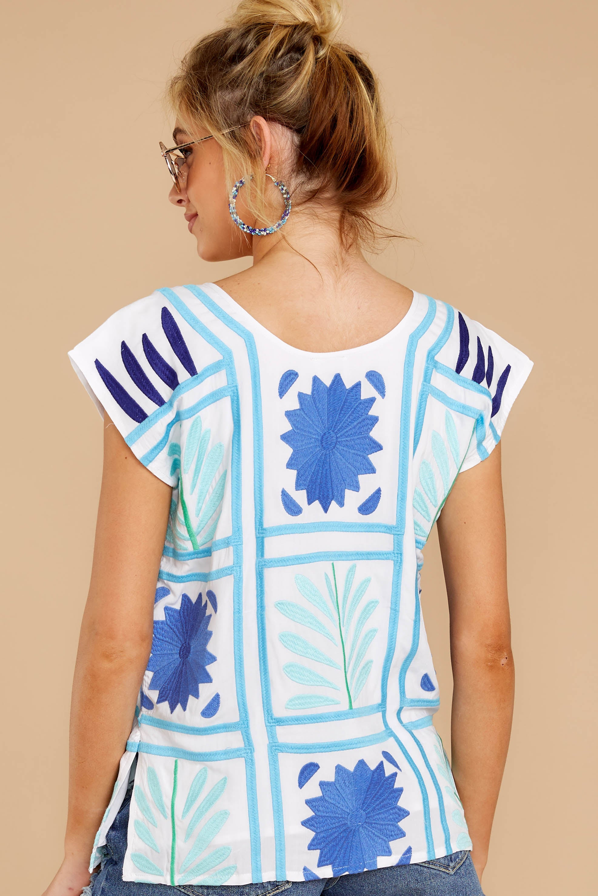 7 Worth Gushing Over White Embroidered Top at reddressboutique.com