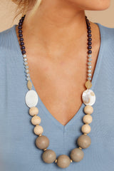 1 Chic Narrative Grey Natural NecklaceChic Narrative Grey Natural Necklace at reddressboutique.com