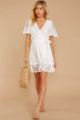 3 Redefine Graceful White Lace Dress at reddressboutique.com