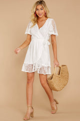 4 Redefine Graceful White Lace Dress at reddressboutique.com