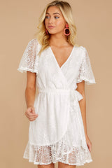 5 Redefine Graceful White Lace Dress at reddressboutique.com