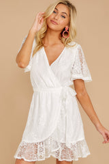 6 Redefine Graceful White Lace Dress at reddressboutique.com