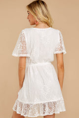 7 Redefine Graceful White Lace Dress at reddressboutique.com