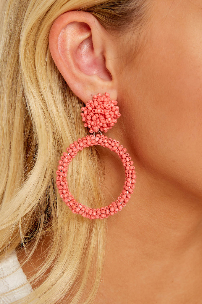 What Really Matters Blush Beaded Earrings