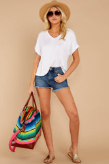 1 The White Alda Dolman Tee at reddressboutique.com