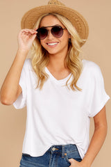 4 The White Alda Dolman Tee at reddressboutique.com