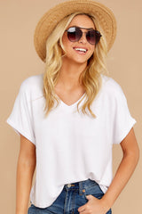 5 The White Alda Dolman Tee at reddressboutique.com