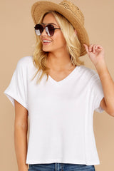 6 The White Alda Dolman Tee at reddressboutique.com
