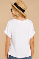 7 The White Alda Dolman Tee at reddressboutique.com