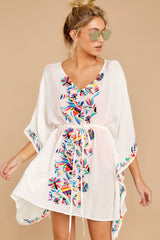 2 Flock To Paradise White Embroidered Cover Up at reddressboutique.com