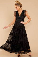 3 A Night To Forget Black Lace Maxi Dress at reddressboutique.com
