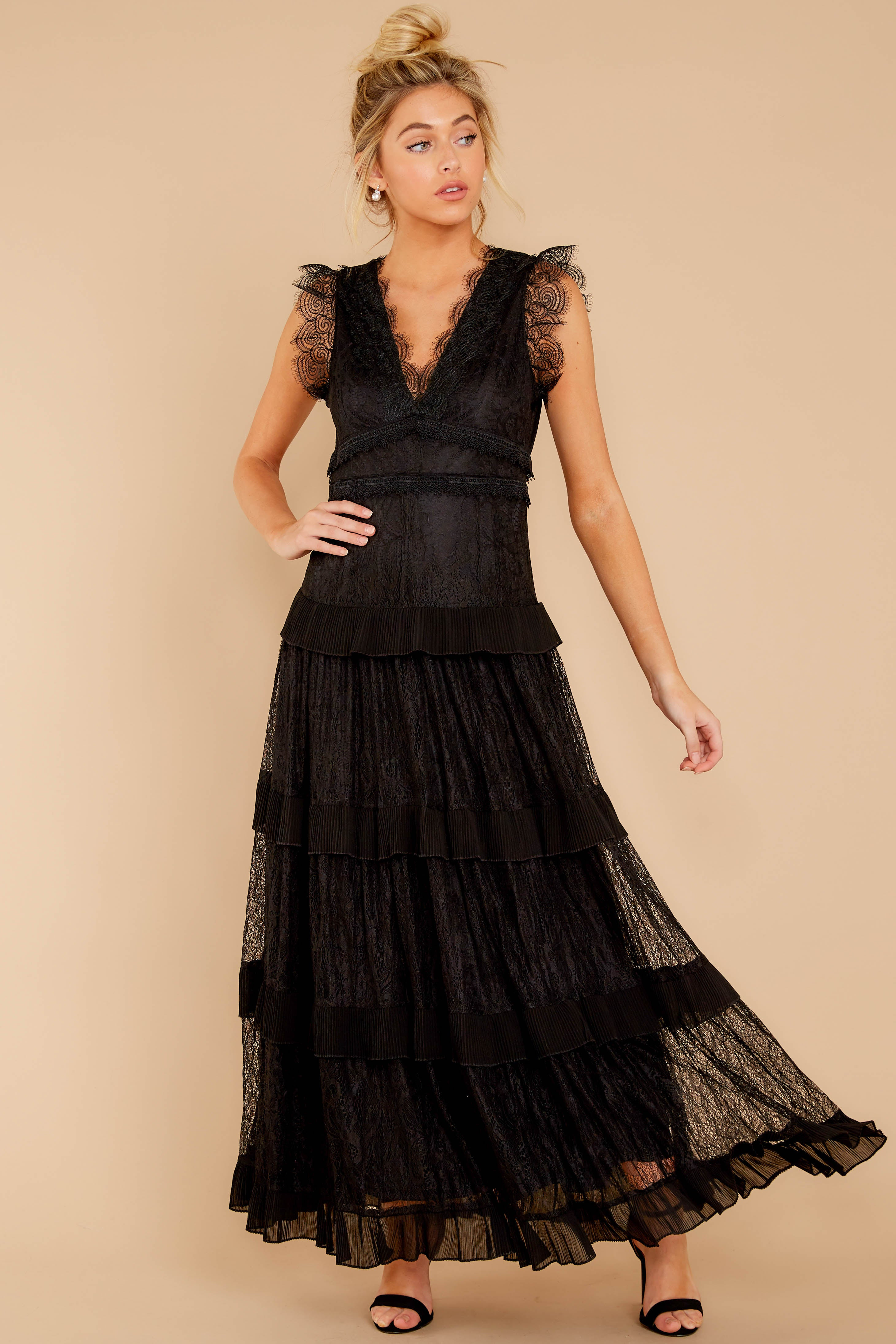 2 A Night To Forget Black Lace Maxi Dress at reddressboutique.com