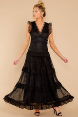 4 A Night To Forget Black Lace Maxi Dress at reddressboutique.com