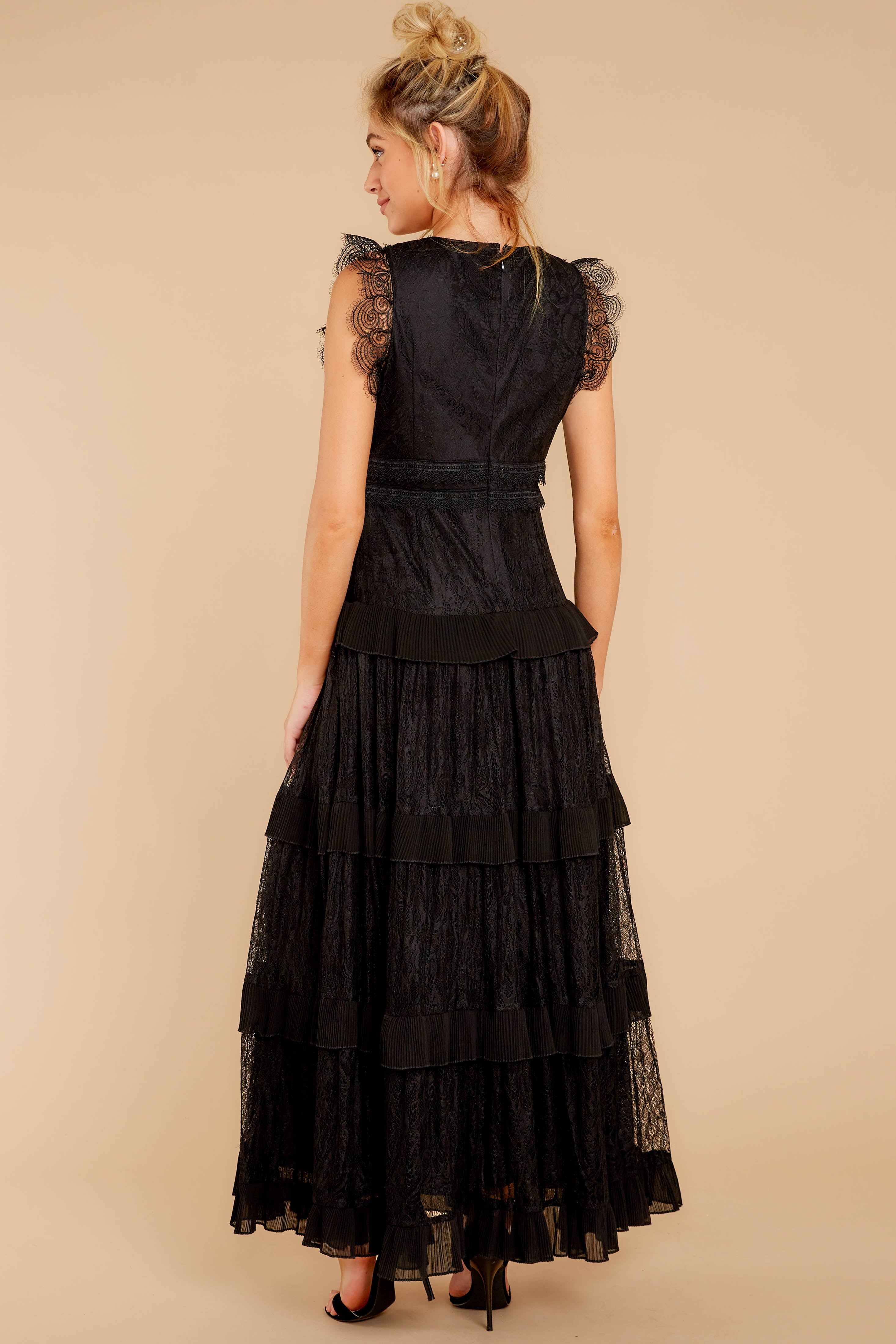 6 A Night To Forget Black Lace Maxi Dress at reddressboutique.com