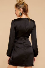 7 Foundational Brilliance Black Dress at reddressboutique.com
