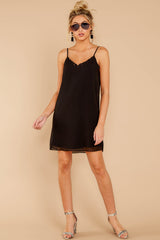 1 Effortless Style Black Dress at reddressboutique.com
