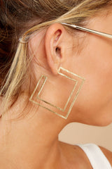 The Right Angle Gold Earrings