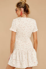 7 Could Do No Wrong Ivory Floral Print Dress at reddressboutique.com