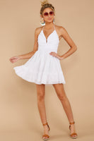 V-neck Halter Plunging Neck Sweetheart Empire Waistline Pleated Gathered Shirred Dress With Ruffles