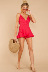 4 Sign Off Berry Pink Romper at reddressboutique.com