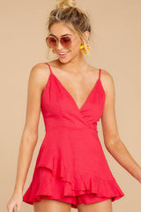 6 Sign Off Berry Pink Romper at reddressboutique.com