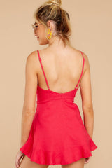 7 Sign Off Berry Pink Romper at reddressboutique.com