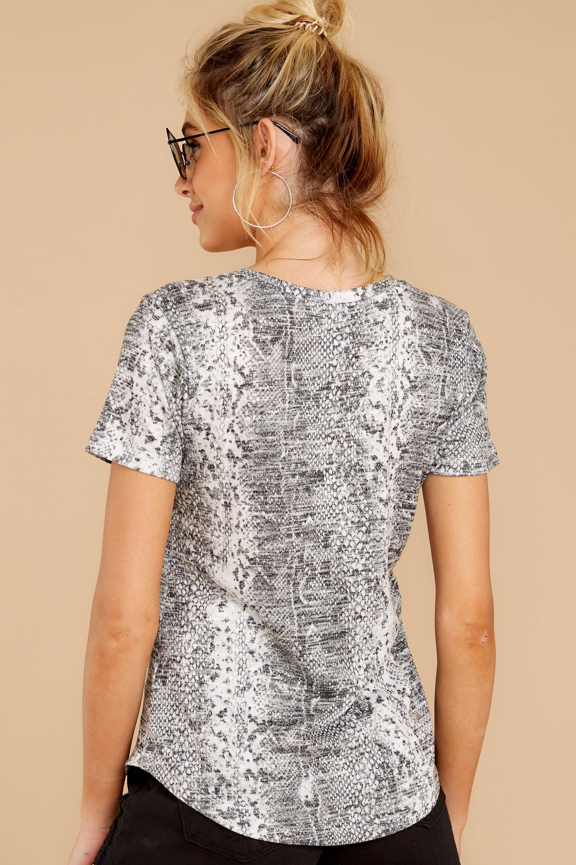7 The Snakeskin Ultimate Crew Tee at reddressboutique.com