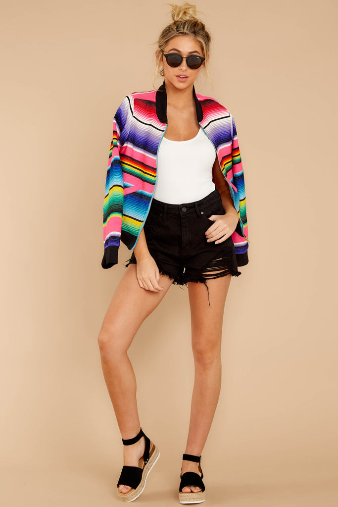 1 Aligned With Style Black Multi Tweed Jacket at reddressboutique.com